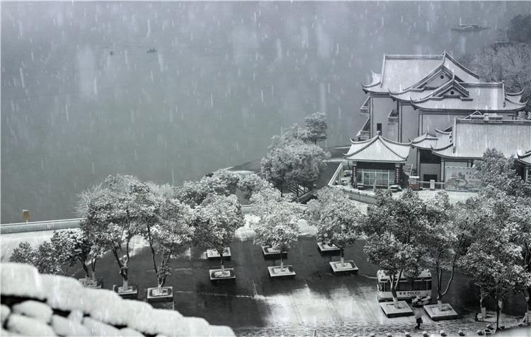 天目湖雪景